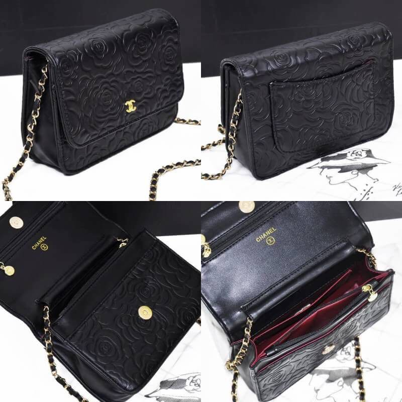 d5b7fe20cb8544 CHANEL WOC CAMELLIA 173, Women's Fashion, Bags & Wallets on Carousell