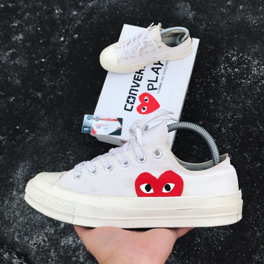 81588db8e112dd Converse Play Comme des Garcons CDG Low Cream