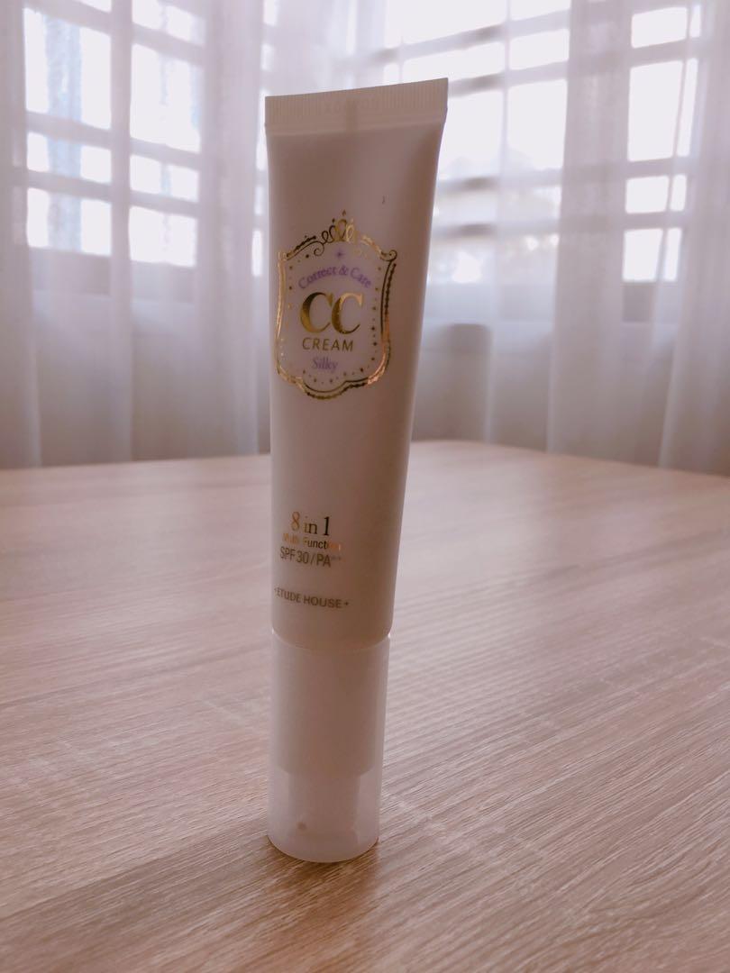 Etude House Correct Care Cc Cream Silky Health Beauty Makeup On Carousell