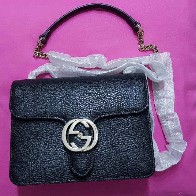 479799e3c30b03 Authentic Gucci Borsa Bag (Black) 200mm (L) x 169mm (W), Luxury ...