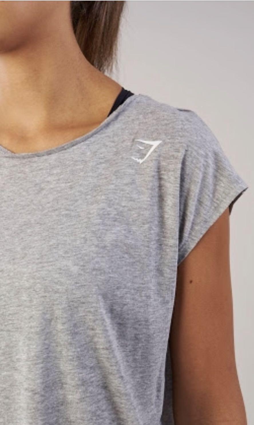 Gymshark semi crop tshirt