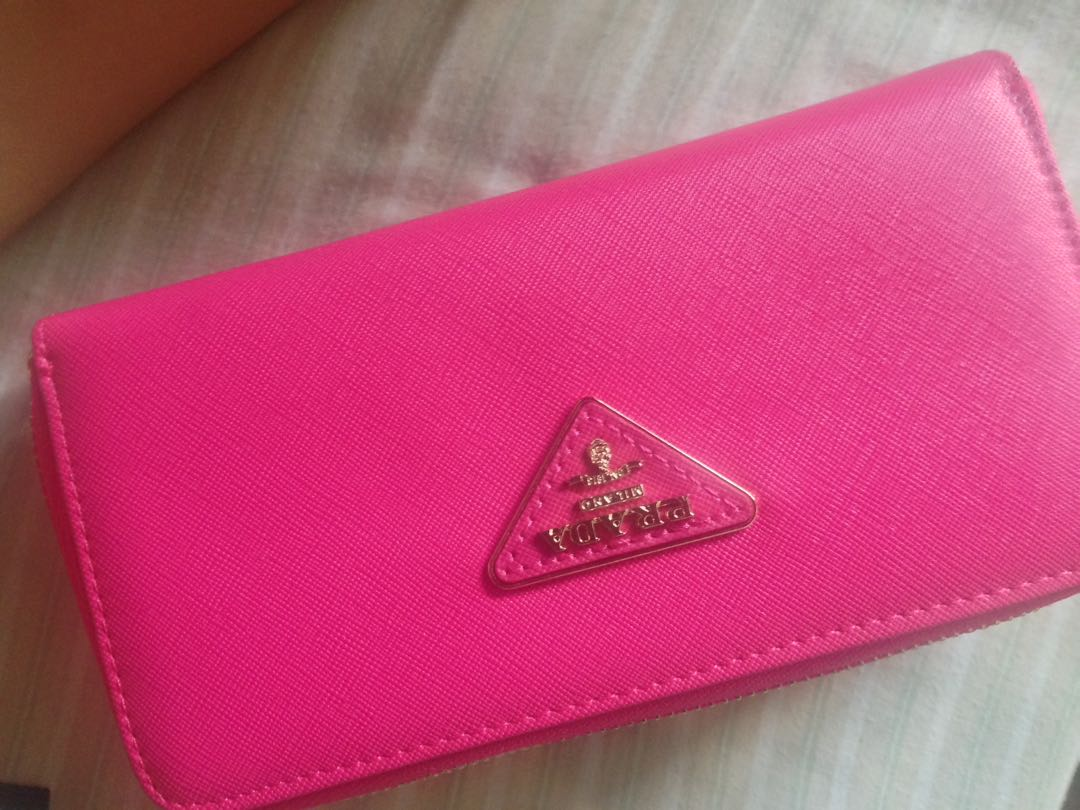 2012c935ea7c ... discount hot pink prada wallet clutch preloved womens fashion bags  wallets on carousell fc905 7c15f