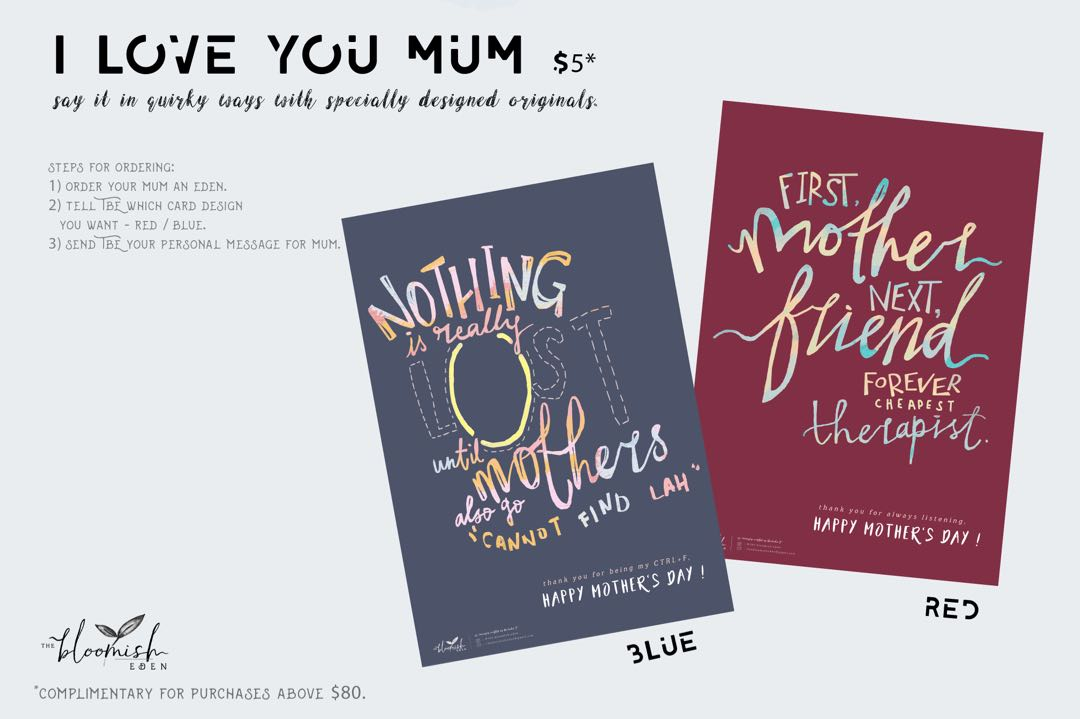I Love You Mum in my own quirky way - Mother's Day 2018