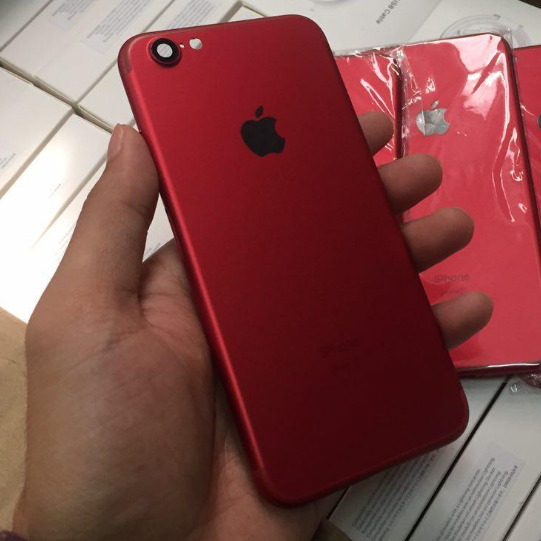 sports shoes 97c53 300fc Iphone 6 Convert to Iphone 7 Red Body case / housing