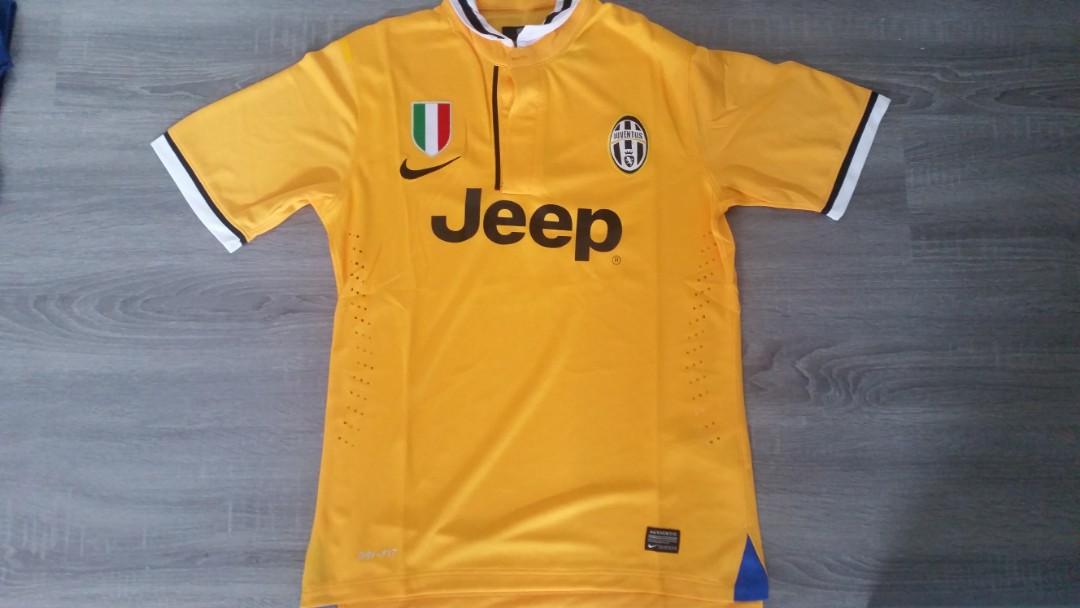Juventus 2013 14 Away Yellow Jersey Sports Sports Apparel On Carousell