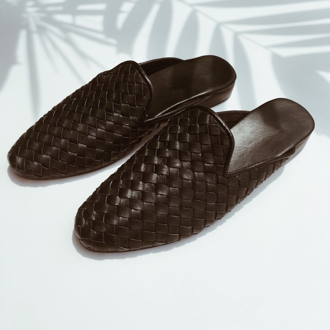 MEN] Hugo Woven Black Leather Loafers