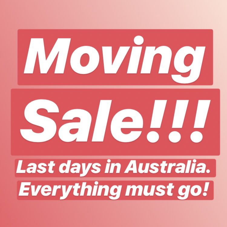 Moving sale! Reduced prices