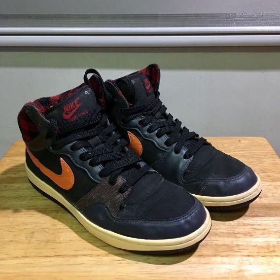 save off 610cf 466dc Nike Court Force Hi (Black Tartan Orange), Mens Fashion, Foo
