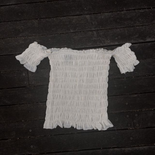 Off White scrunched top