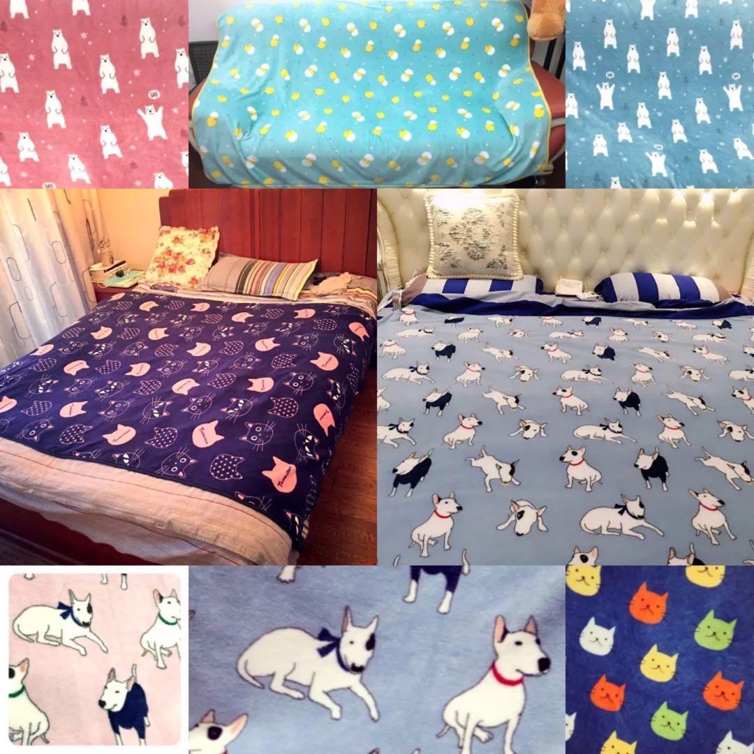 (PO) Comfort Blanket Cartoon Design Fleece Single Double size (15m x 2m)