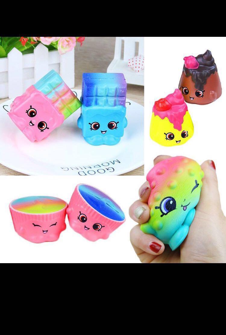 Nice PO: Kawaii Shopkin Inspired Rainbow Galaxy Squishy, Toys U0026 Games, Bricks U0026  Figurines On Carousell