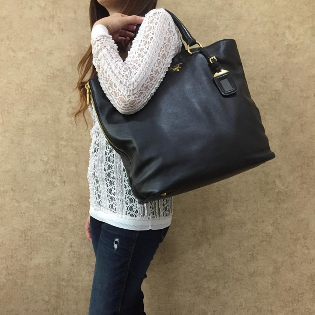 9ae9bf306f11 ... official prada bn2477 soft calf leather shopping tote bag luxury bags  wallets on carousell 21d3d c5b7f
