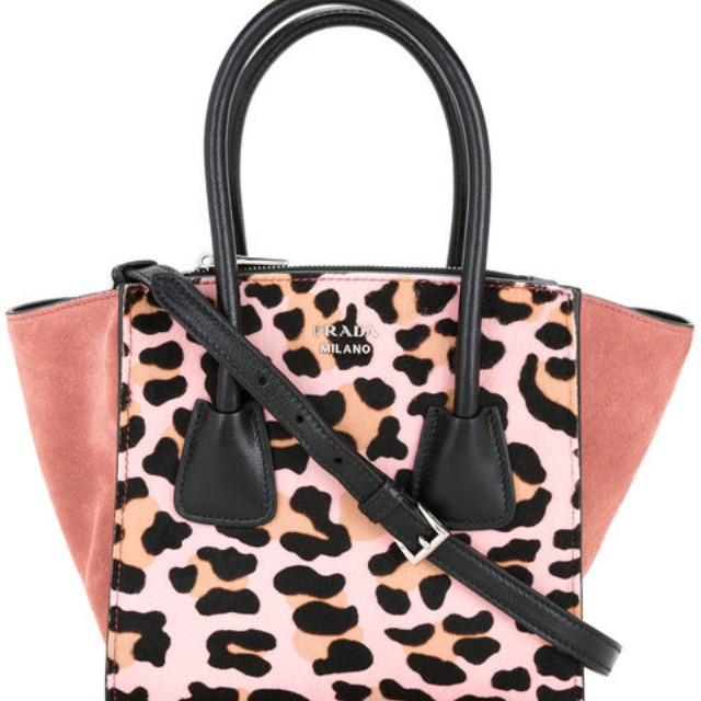 c4521e9c6c965 Prada Vintage Leopard Leather Tote Bag(PRE-ORDER)