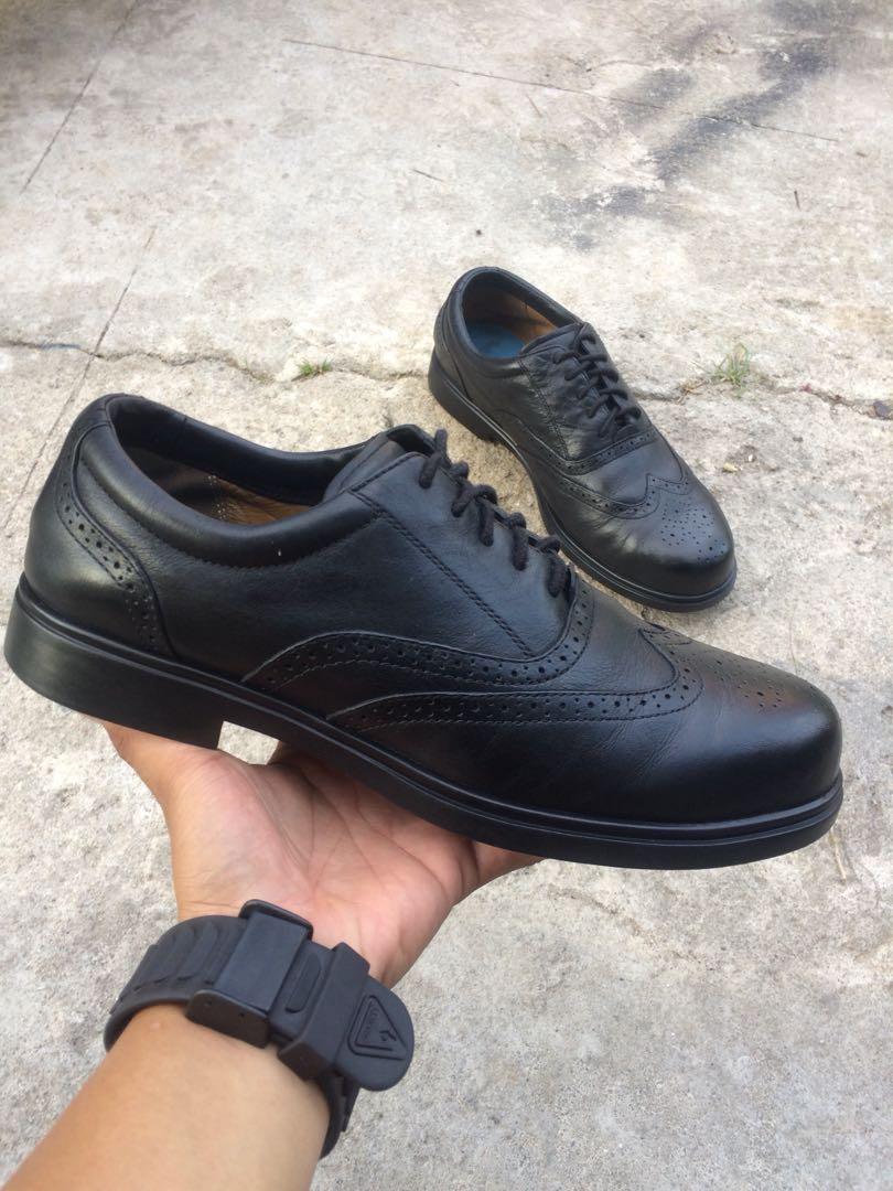 Red Wing Shoes 6665 Black Wingtip Oil Resistant Steel Toe Oxfords