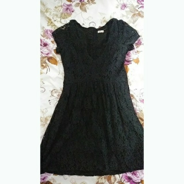 S Hollister Black Lace Dress