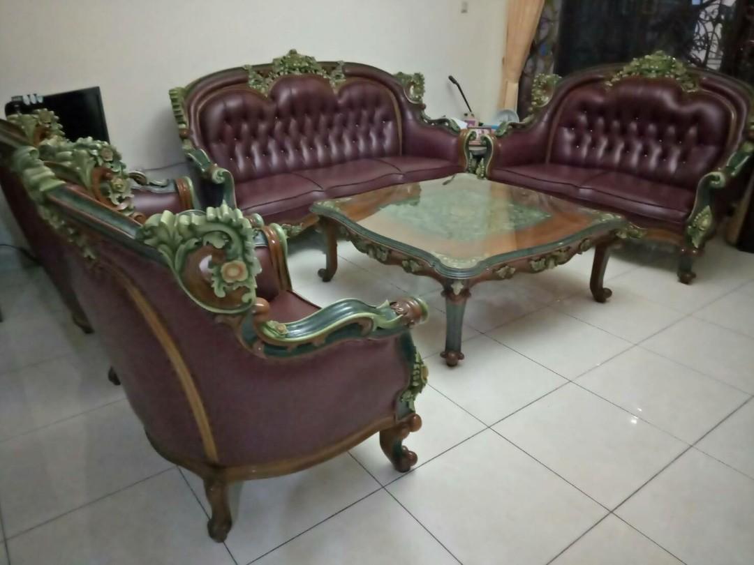 Sofa Kayu Jati Home Furniture On Carousell