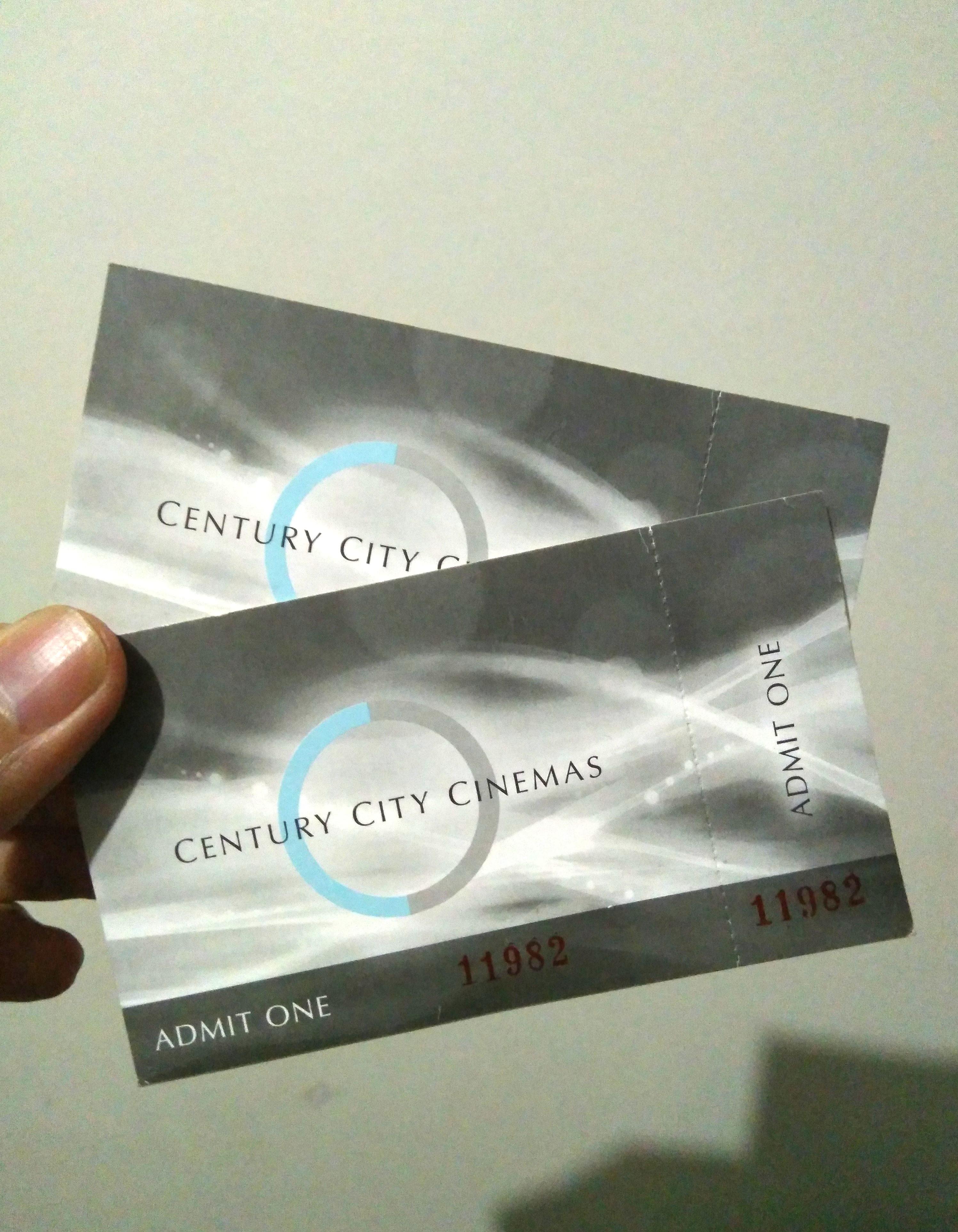 ticket century cinema for sale