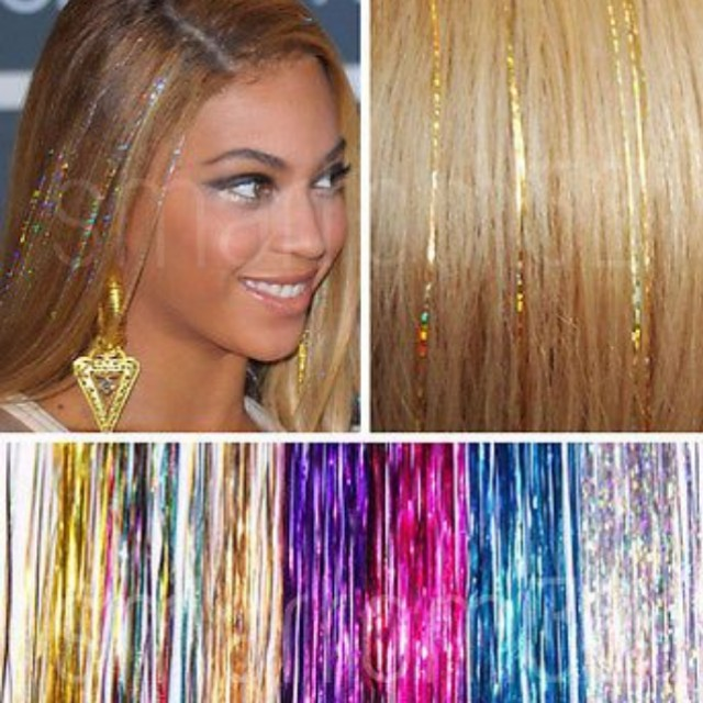 Tinsel Hair Extensions For A Glittery You Health Beauty Hair