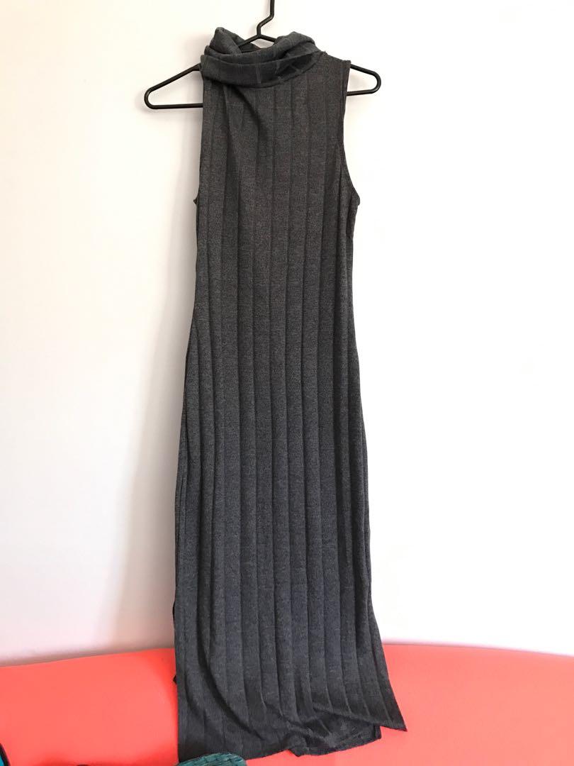 Turtle neck maxi dress