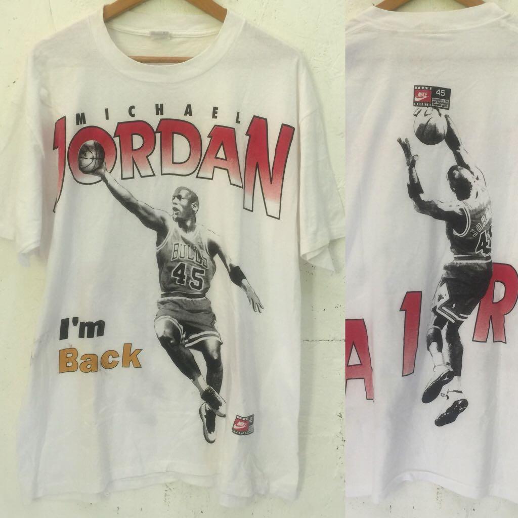 99d7b8db81eb90 Vintage NIKE MICHAEL JORDAN  45 Tee Chicago Bulls Tee Shirt