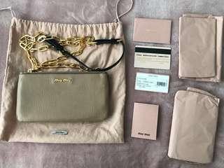 Authentic Pre-owned Prada Miu Miu Madras Bicolore Shoulder Chain Bag - RRP $1299