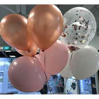 Plain 12'' Latex Helium Balloons / Confetti Balloons