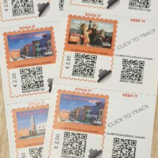 Italy stamps - for postcards and tracking