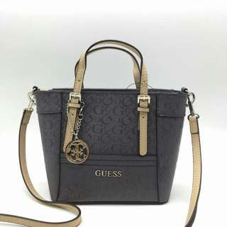 GUESS DELANEY MINI SATCHEL BAG