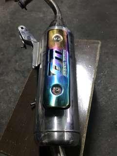 Cuxi 噴射改裝排氣管 OM