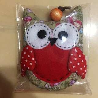 Handmade owl key pouch