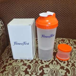 Protein Shaker Bottle for Gym With 2 Storage Extra Compartment-600ml