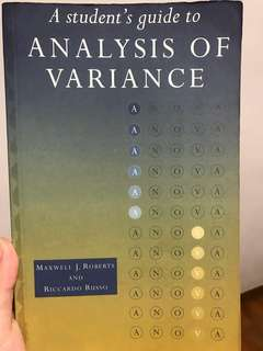 A student's guide to analysis of variance (anova)