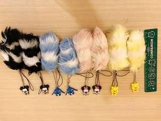 🚚 日本帶回~迪士尼卡通吊飾 毛毛吊飾 一隻15元