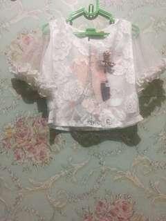 Lace blouse anak