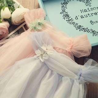 韓款網紗裙