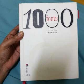 [Design book] 1000 fonts