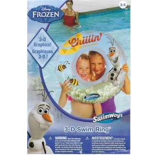 "Disney Frozen Olaf "" Chilling in the Sunshine"" Inflatable Swimming Ring Float"