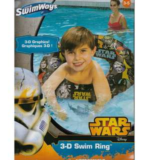 SwimWays Star Wars 3D Inflatable Swimming Ring Float