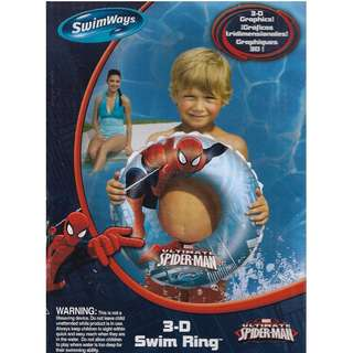 Swimways Marvel Ultimate Spider-Man 3-D Inflatable 60cm Swimming Ring Float