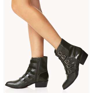 Forever 21 Must Have Buckle Booties.