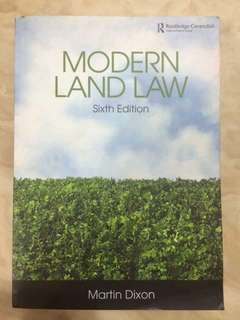 Modern Land Law by Martin Dixon