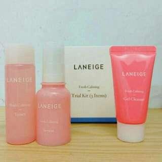 Laneige fresh Calming morning routine  set  ( trial kit 3 item )
