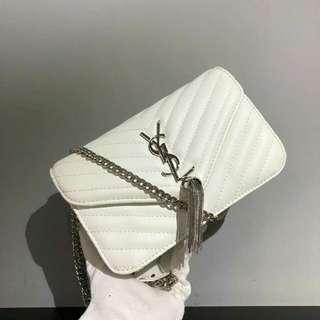 YSL Sling Bag White Color