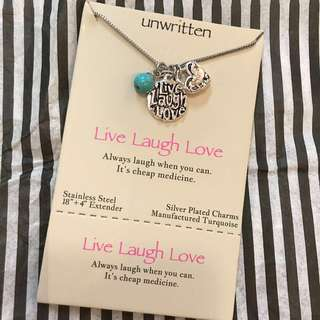 Live Laugh Love Charm Necklace