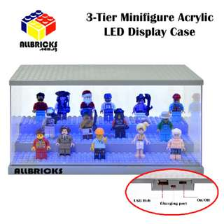 3-Tier Minifigure Acrylic LED Display Case