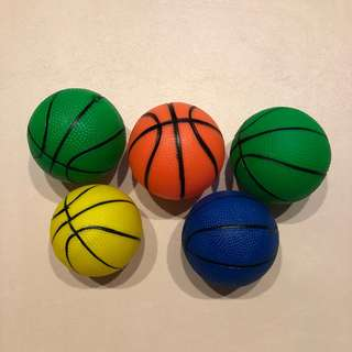 彩色彈力球玩具球充氣球 - 小號