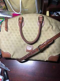 Authentic Dooney and Bourke Jacquard Signature Crossbody Satchel