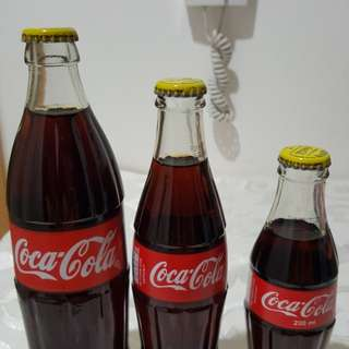 Unopened Coke Bottles from Kenya (Red w/Yellow cap)