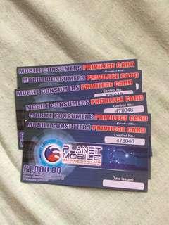 PlanetMobile Consumer Privilege Card (MCPC)