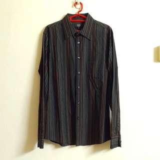 2 Branded Formal Black In Stripes Long Sleeves